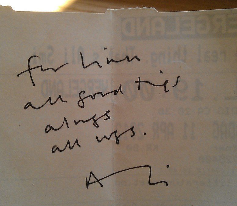 You don't choose what you write, it chooses you: Ali Smith på Litteraturhuset 11. april 2012