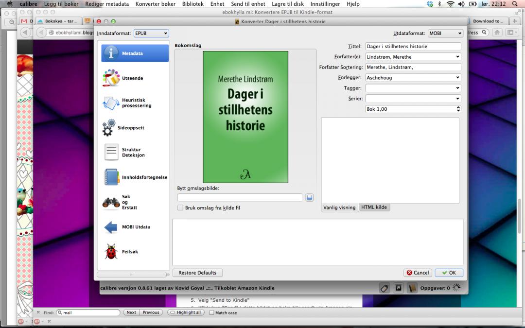 Jeg har kjøpt en norsk e-bok til Kindle!